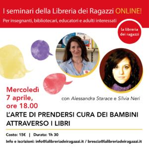 Seminario online sull'arte di prendersi cura dei bambini attraverso i libri