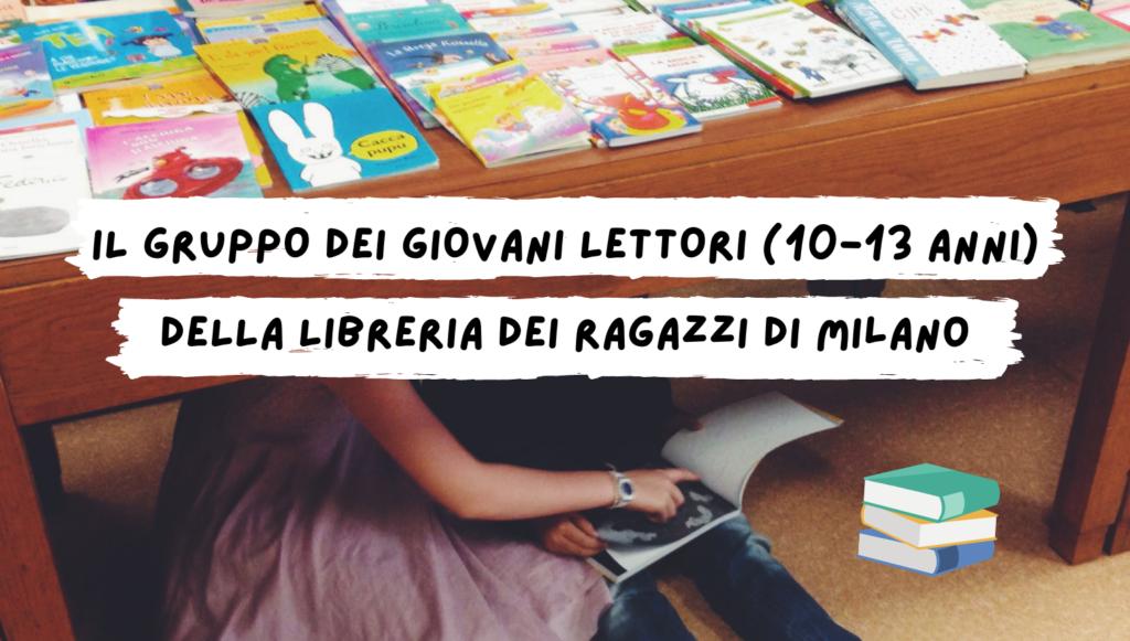 Il gruppo dei giovani lettori (10-13 anni) della Libreria dei Ragazzi di Milano